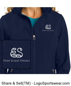 Ladies Blue Jacket 1 Design Zoom