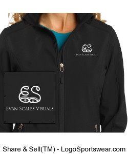 Ladies Black Jacket Design Zoom